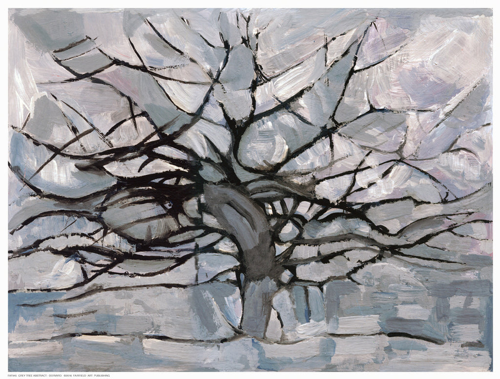 Grey Tree Abstract by Dorvard - FairField Art Publishing