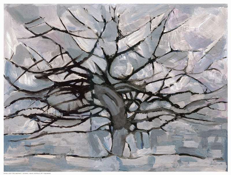 Grey Tree Abstract Decorative by Dorvard - FairField Art Publishing