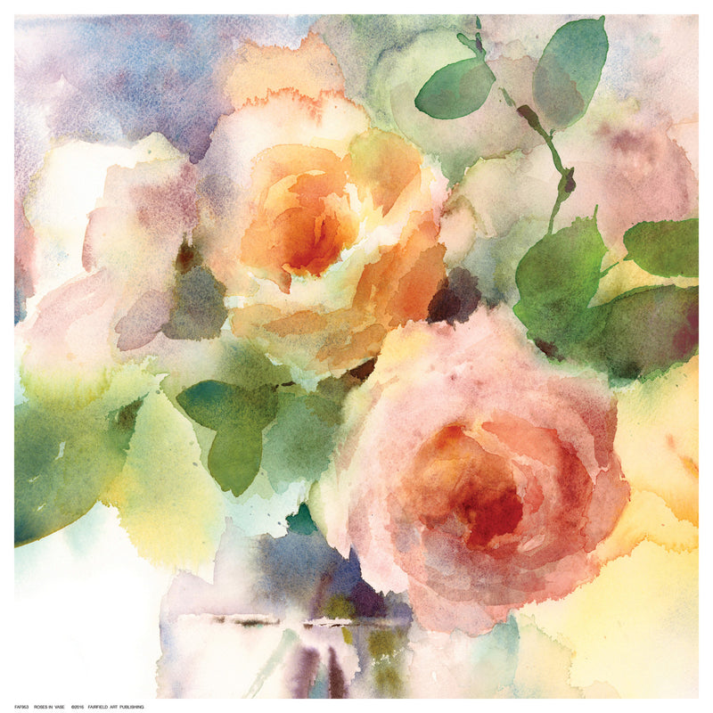 Roses in Vase Posters by Anon - FairField Art Publishing