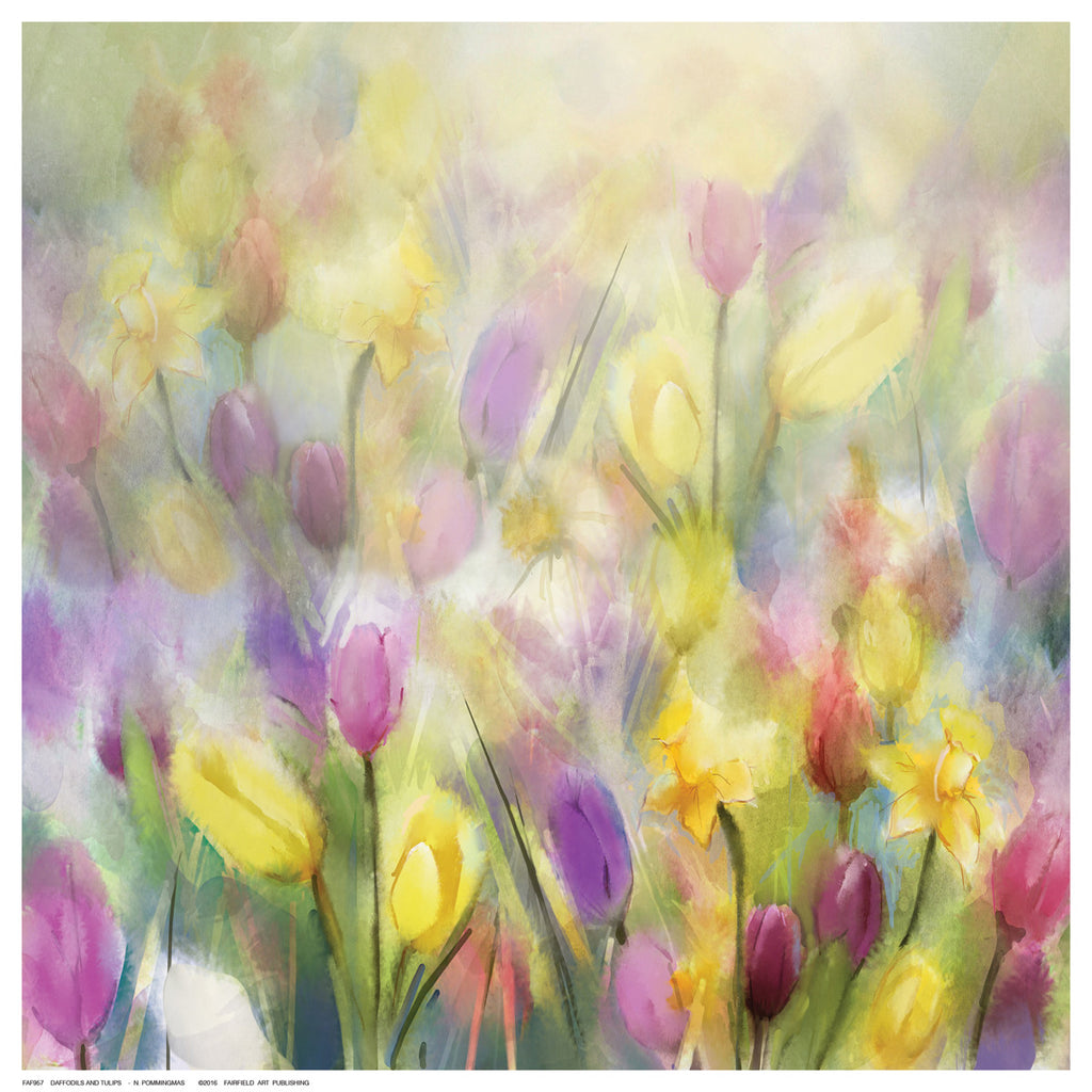 Daffodils and Tulips Floral by N. Pommingmas - FairField Art Publishing