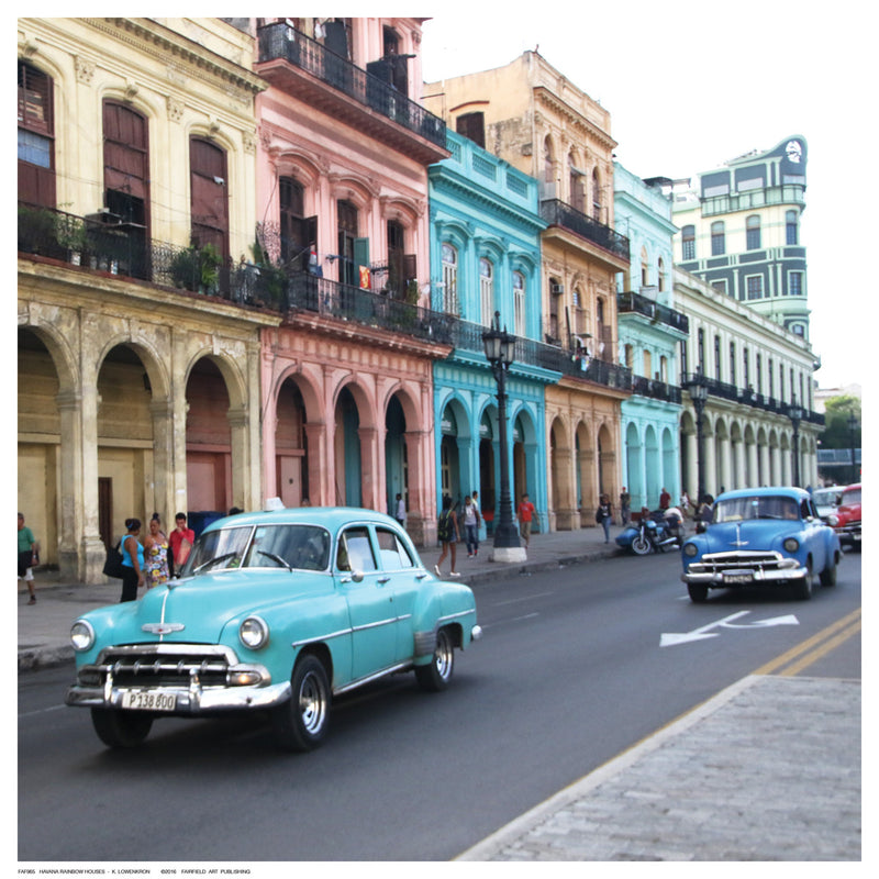 Havana Rainbow Houses by Kristin Lowenkron - FairField Art Publishing