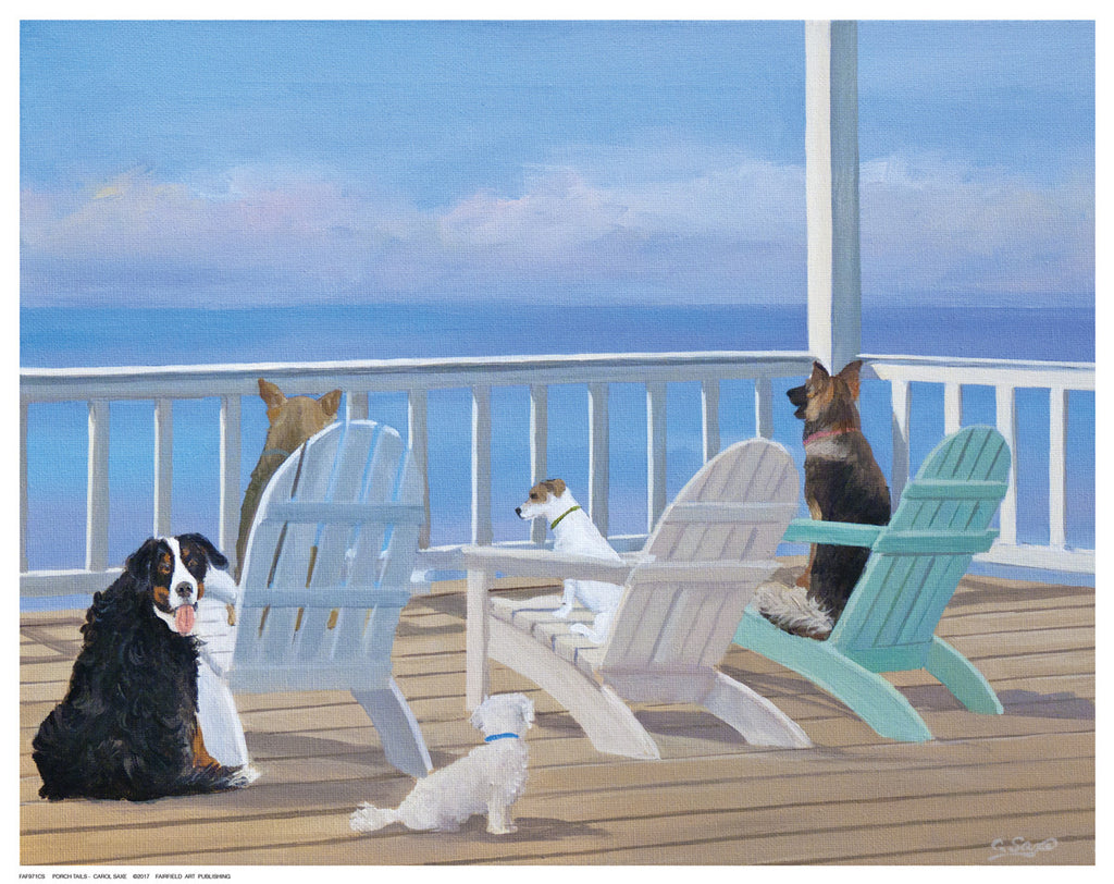 Porch Tails Posters by Carol Saxe - FairField Art Publishing