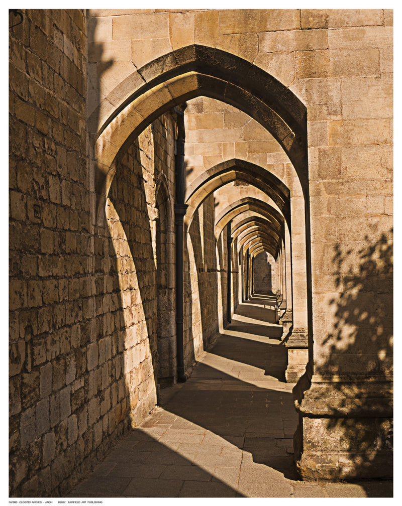 Cloister Arches Posters by Anon - FairField Art Publishing