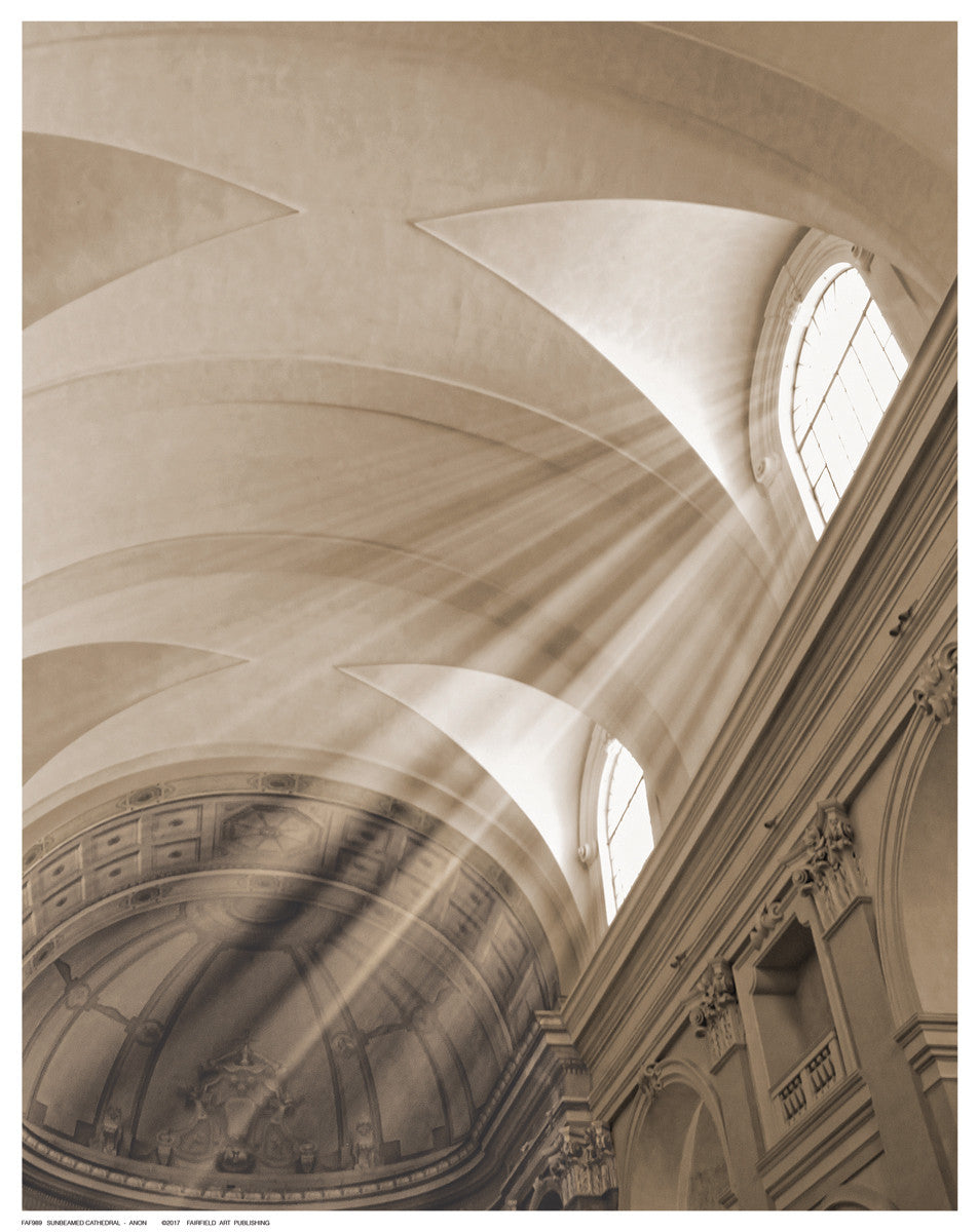Sunbeamed Cathedral Posters by Anon - FairField Art Publishing