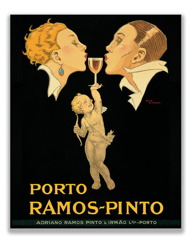 Porto Ramos, Vintage Ad on Canvas
