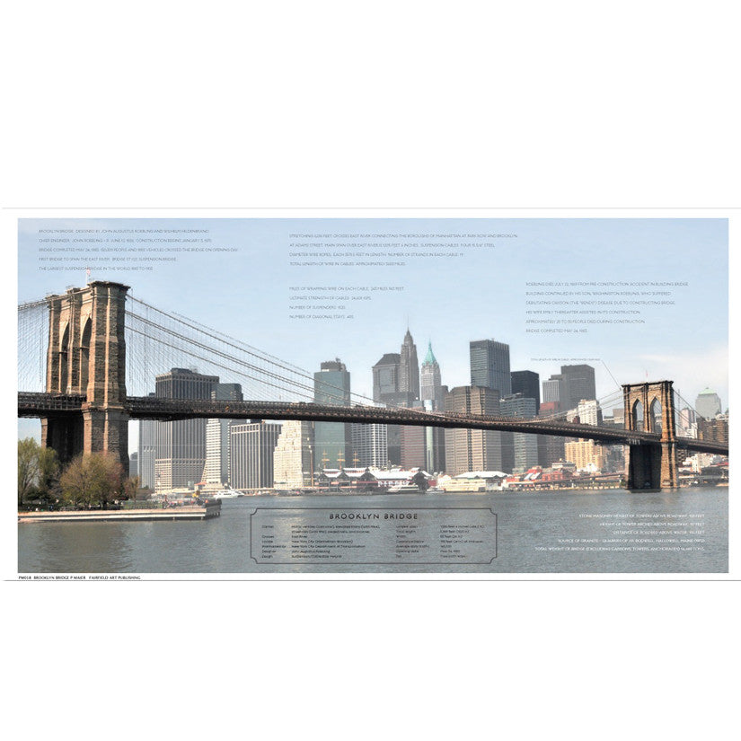 Brooklyn Bridge Architecture by Phil Maier - FairField Art Publishing