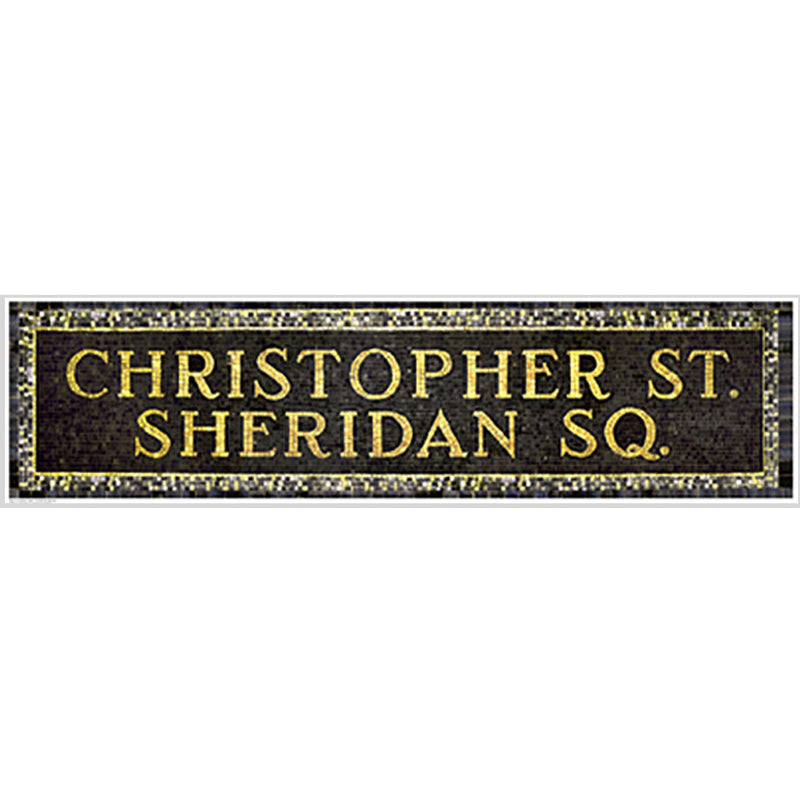 Christopher Street & Sheridan Square Subway Sign by Phil Maier - FairField Art Publishing