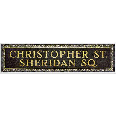 Christopher Street & Sheridan Square Subway Sign