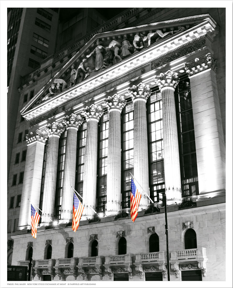 New York Stock Exchange at Night /sm/ Posters by Phil Maier - FairField Art Publishing