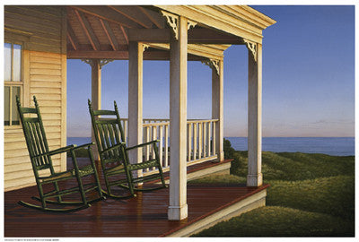 Twilight on the Veranda Coastal by Daniel Pollera - FairField Art Publishing