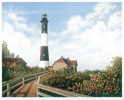 West Channel Lighthouse (mini) Coastal by Daniel Pollera - FairField Art Publishing