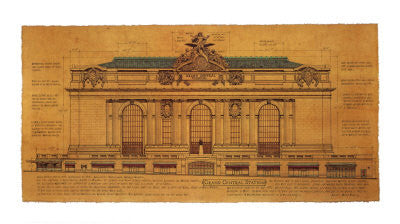 Grand Central Station (Facade) Architecture by Roger Vilar - FairField Art Publishing