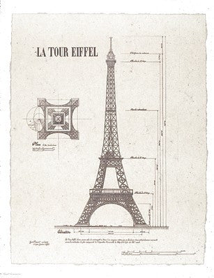 La Tour Eiffel (small) Posters by Yves Poinsot - FairField Art Publishing