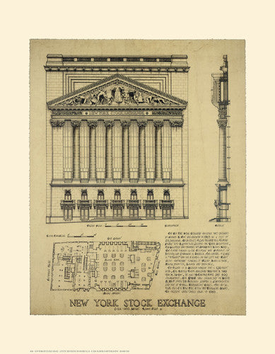 New York Stock Exchange Posters by Roger Vilar - FairField Art Publishing
