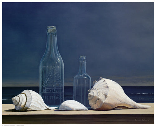 Seaglass and Shells Still Life by Daniel Pollera - FairField Art Publishing