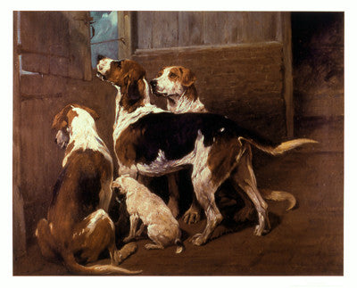 Hounds by a Stable Door by John Emms - FairField Art Publishing