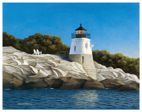 Castle Hill Light Coastal by Daniel Pollera - FairField Art Publishing