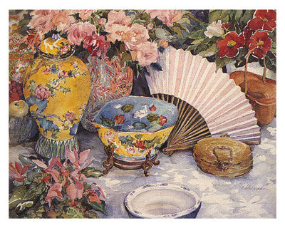 Oriental Splendor Still Life by Joy Waldman - FairField Art Publishing