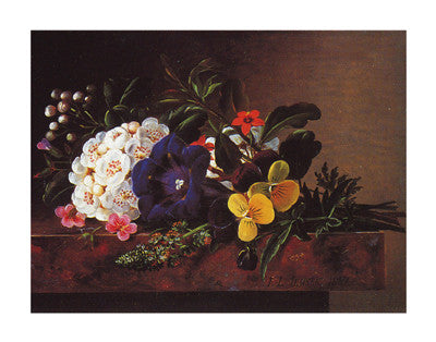 A Still Life of Spring Flowers Floral by Johan Laurentz Jensen - FairField Art Publishing