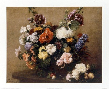 Still Life of Flowers Floral by Henri Fantin-Latour - FairField Art Publishing