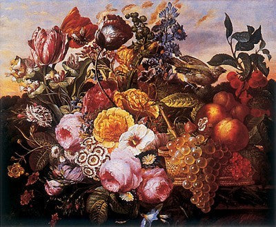 Still Life with Flowers Traditional Art by Joseph Goblet - FairField Art Publishing