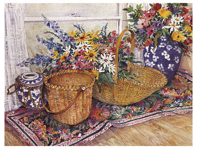 Wicker Splendor Still Life by Joy Waldman - FairField Art Publishing