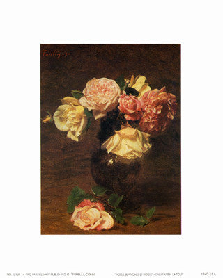 Roses Blanches et Roses Floral by Henri Fantin-Latour - FairField Art Publishing