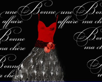 Robe de Soiree Rouge Posters by Anon - FairField Art Publishing