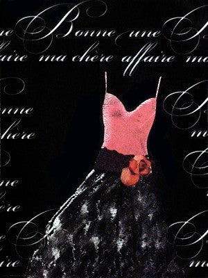 Robe de Soiree Rose avec le Corsage Posters by Anon - FairField Art Publishing