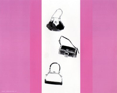 Trois Sacs a Main avec Rouge Posters by Anon - FairField Art Publishing