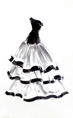 Evening Gown with Ruffles by Tina Amico - FairField Art Publishing