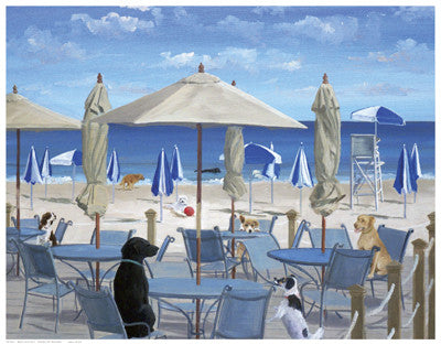Beach Club Tails II by Carol Saxe - FairField Art Publishing