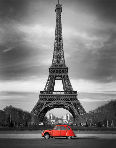 Retro Red and the Eiffel Tower Posters by Anon - FairField Art Publishing