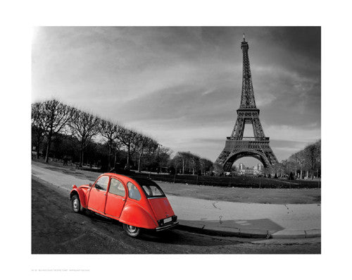 Red in Motion by the Eiffel Tower Posters by Anon - FairField Art Publishing