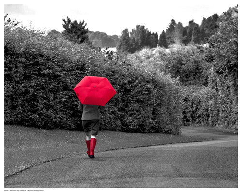Red Boots and Umbrella Posters by Anon - FairField Art Publishing