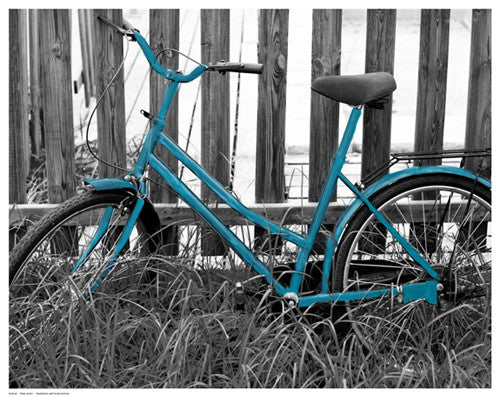Teal Bike I Posters by Anon - FairField Art Publishing