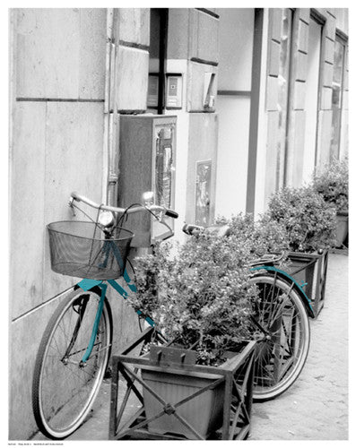 Teal Bike II Posters by Anon - FairField Art Publishing