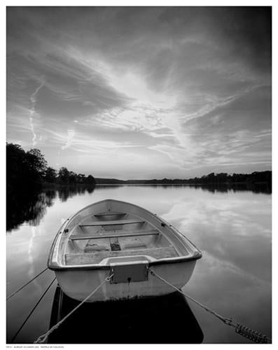 Rowboat on Summer Lake Giclee
