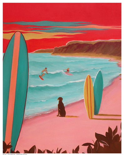 Ditch Plains Surf by Carol Saxe - FairField Art Publishing