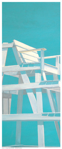 Life Guard Stand (turquoise) Coastal by Carol Saxe - FairField Art Publishing