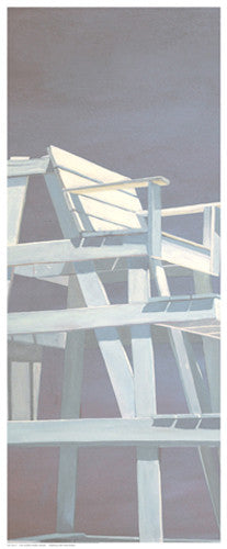 Life Guard Stand (grey) Coastal by Carol Saxe - FairField Art Publishing