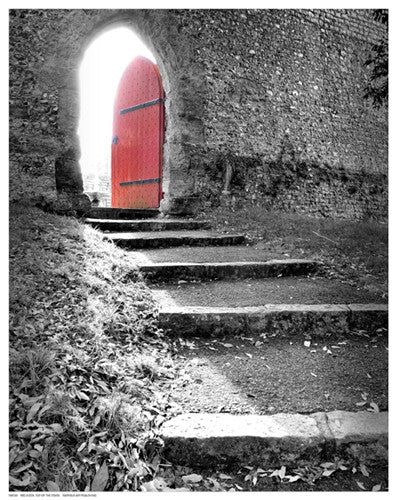 Red Door Top of the Stairs Posters by Anon - FairField Art Publishing