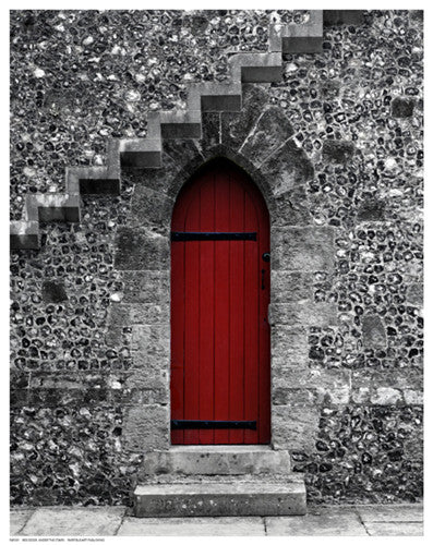 Red Door Under the Stairs