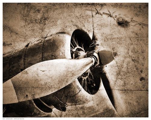 Antique Plane II Vintage by Anon - FairField Art Publishing