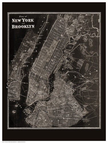 The Plan of New York and Brooklyn, 1867 Architecture by Anon - FairField Art Publishing