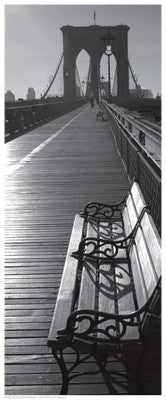 Brooklyn Bridge Benches Photography by Anon - FairField Art Publishing
