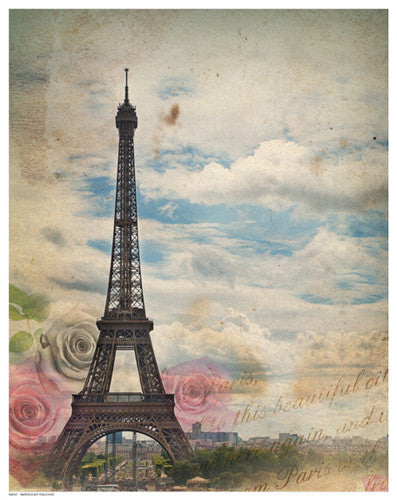 Eiffel in Rose Sky by Anon - FairField Art Publishing