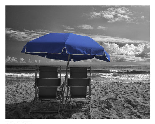 Blue Umbrella Photography by Eve Turek - FairField Art Publishing