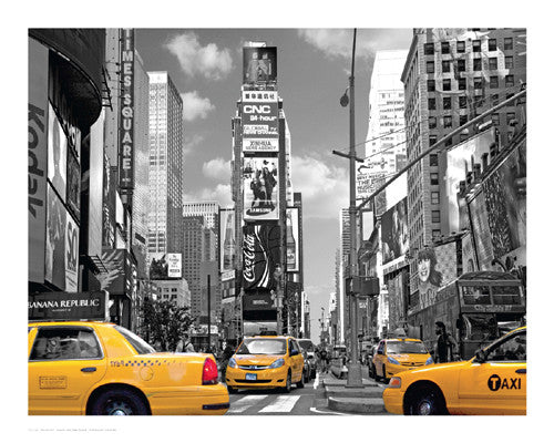 Yellow Cabs, Times Square Posters by Igor Maloratsky - FairField Art Publishing