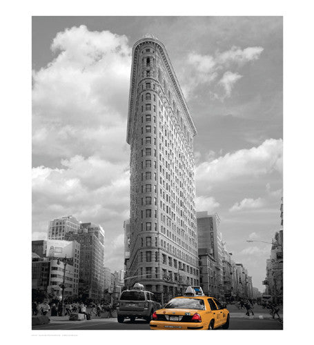 Yellow Cabs at Flatiron Building Posters by Igor Maloratsky - FairField Art Publishing